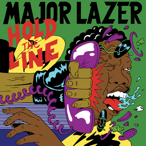 "Cover art for Major Lazer's ""Hold The Line"